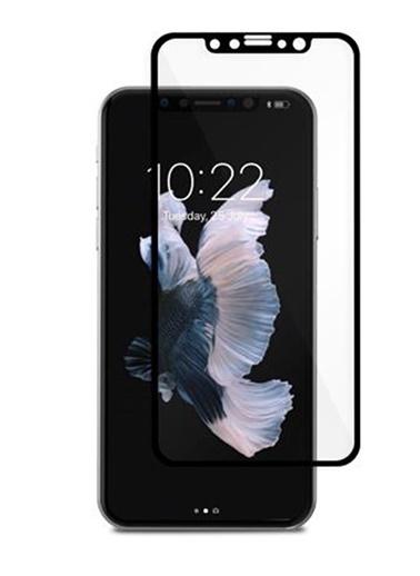Moshi Ion Glass iPhone X Siyah Ekran Koruyucu Siyah